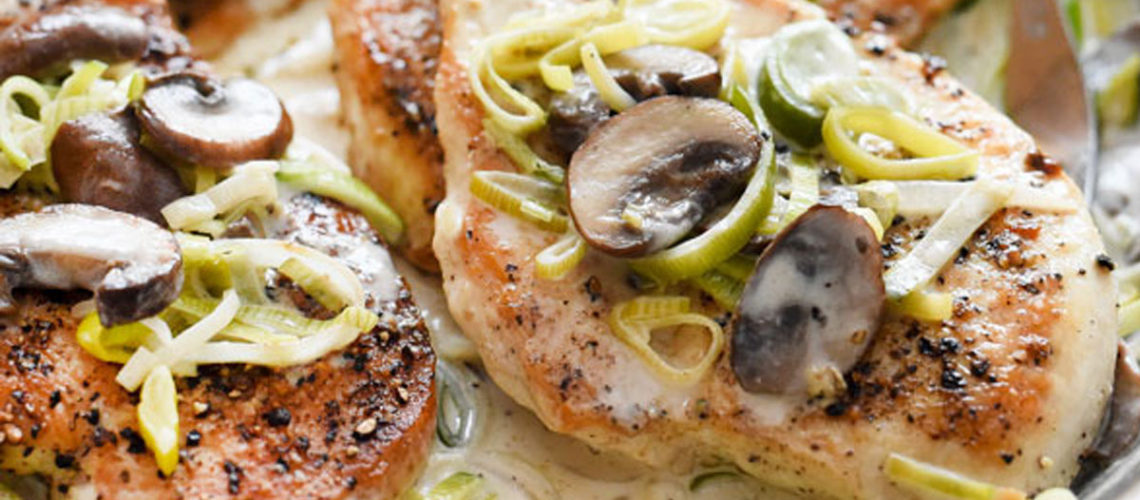 Forget A Frozen Dinner, Make Mushroom And Leak Chicken Breasts Instead