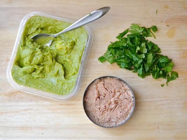 Guacamole-Tuna-Cilantro