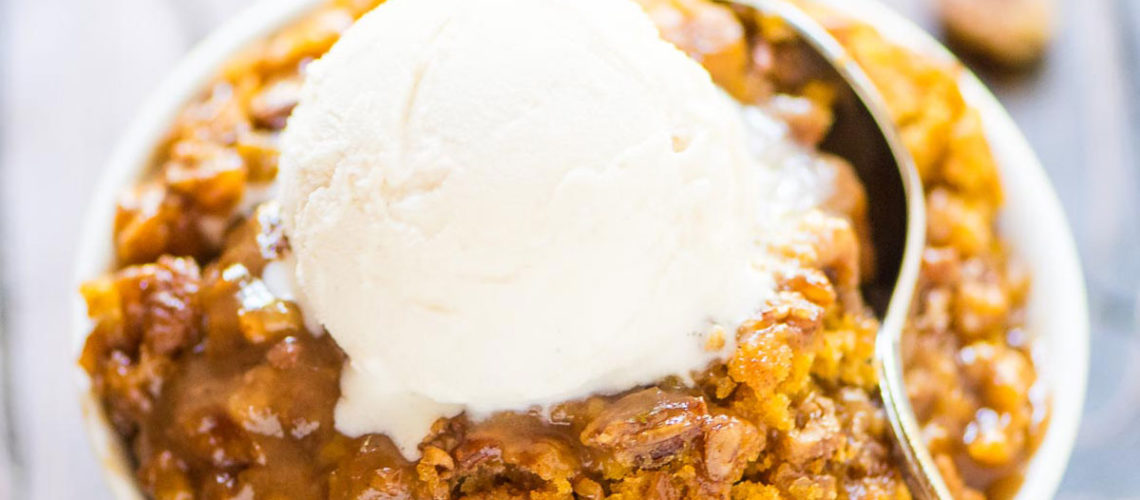 No One Will Be Able To Keep Their Hands Off This Pumpkin Pecan Cobbler