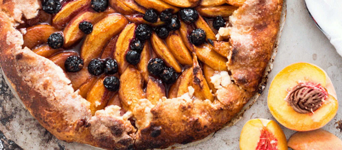 It May Looks Fancy, But This Blueberry And Peach Galette Is So Simple To Make!