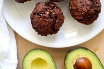 chocolate-avocado-muffins