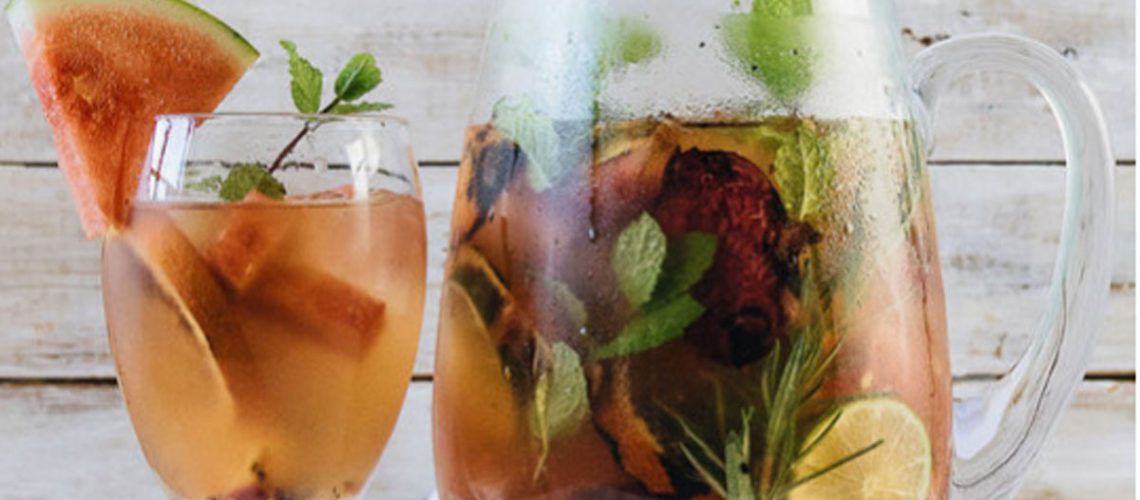 Say Hello To Fall With A Glass Of Grilled Fruit Sangria
