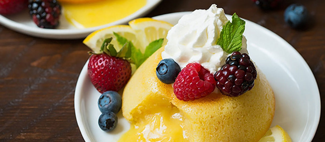 Let The Little Ones Help You Make These Mini Lemon Lava Cakes