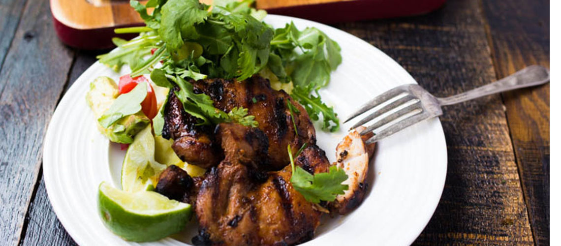 Fire Up The Grill And Make Some Serrano Soy Chicken Thighs